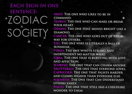 The Signs in One Sentence 💜💛💙: Written by Zodiac Society || thezodiacsociety.com