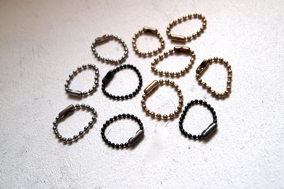 DIY Ball And Chain Stackable Rings: Stackable Rings, Chain Rings, Chain Stackable, Rings Glitter, Diy Rings, Jewelry Rings, Ball Chain