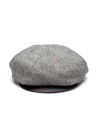 Tweed Herringbone Cap by Burberry Prorsum on Gilt.com