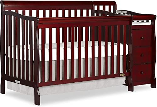 Amazing Offer On Dream On Me 5 1 Brody Convertible Crib Changer Cherry Online Melyssanicefashion In 2020 Convertible Crib Cribs Cherry Furniture