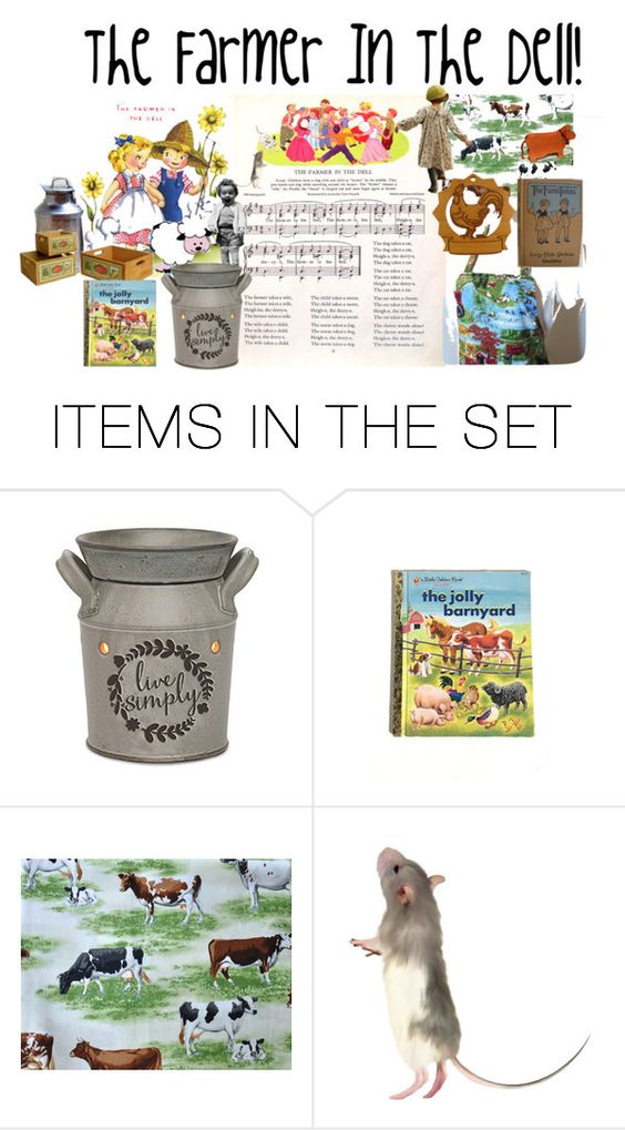 """The Farmer In The Dell!"" by sheila-ball ❤ liked on Polyvore featuring art and inspiredandslightlyobsessed"