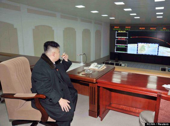 kim jong un cigarette - firing missiles