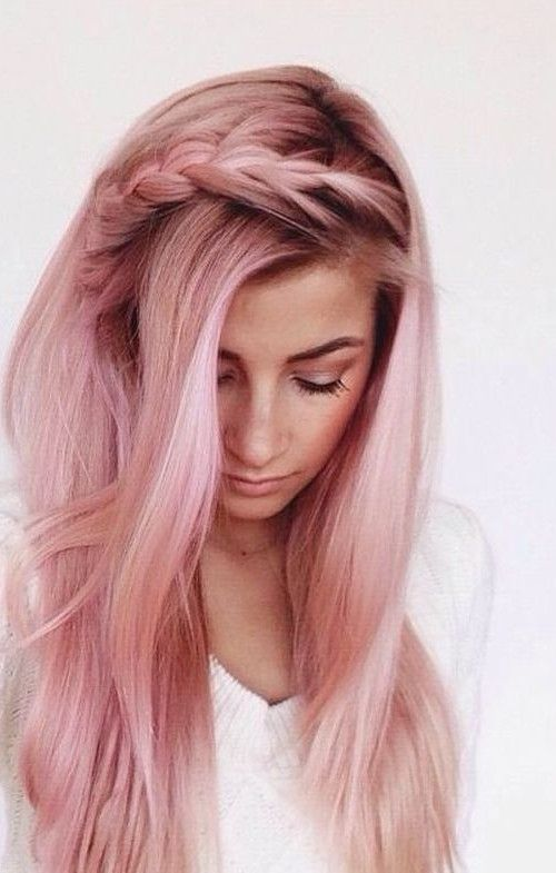 Subtle Rose Gold Hair Color for 2016   Hair Color Trends 2016 Ideas and Highlights for your unique hair