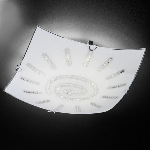 Schicke LED Deckenleuchte Sonne Kristall in chrom,...