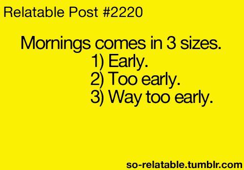 Oh mornings