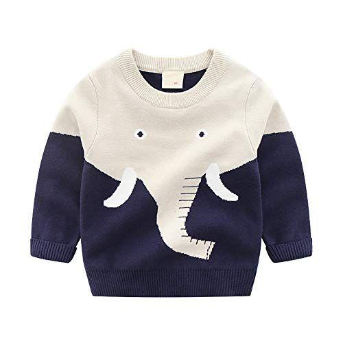 pureborn Baby Boys Girls Unisex Sweater Pull on Closure O-Neck Cute Cartoon Face