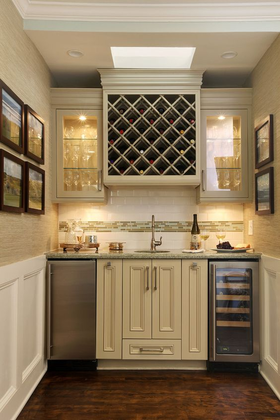 Home Bar Traditional Design Ideas With Exquisite Mosaic