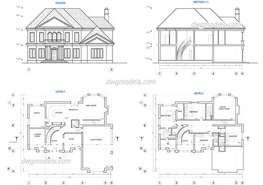 Modern House Autocad Plans Drawings Free Download Autocad House Drawings Samples Dwg Unique Autoca Two Story House Plans Home Plan Drawing Drawing House Plans