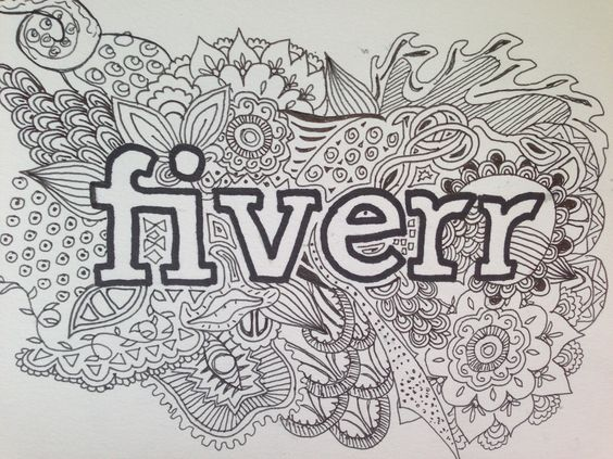 jaragabrielle: draw your name in my intricate style for $5, on fiverr.com