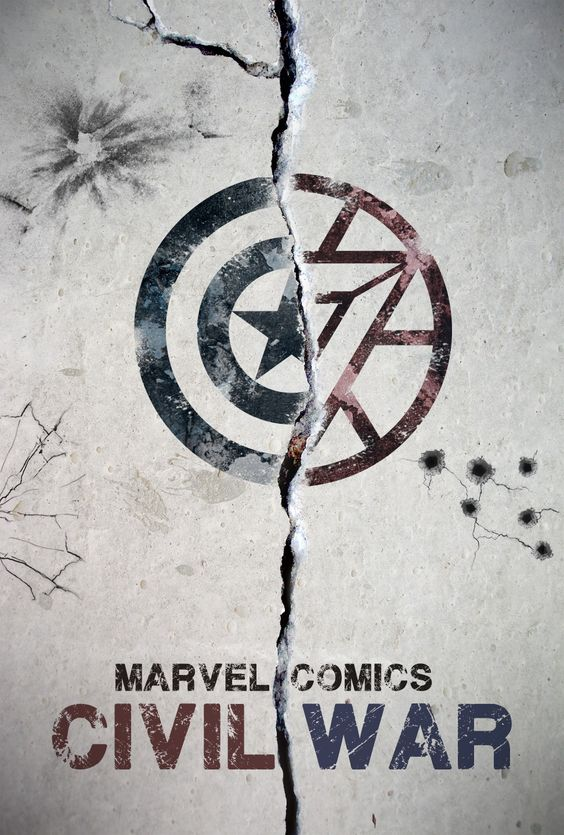 Today I made a poster for Marvel Comics Civil War storyline.: