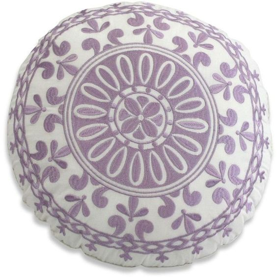 Dena Home Dena™ Home French Lavender Round Toss Pillow ($40) ❤ Liked On