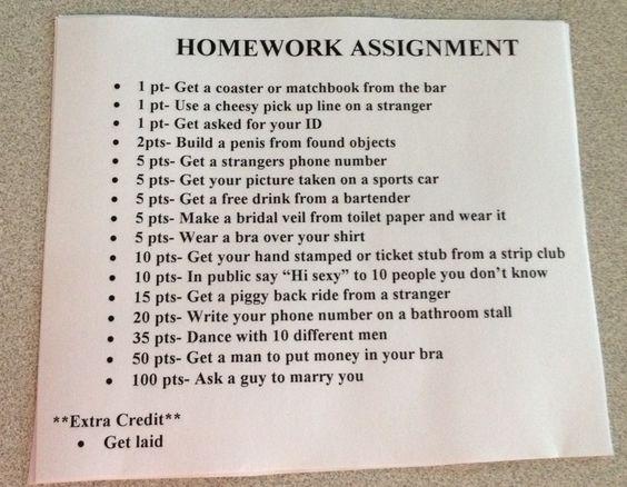 Homework game