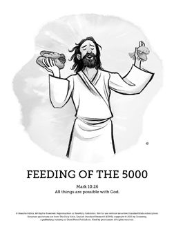 Jesus Feeds 5000 Sunday School Coloring Pages Your