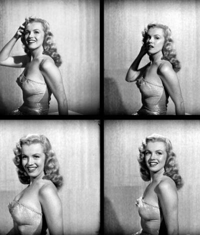 "Marilyn Monroe, publicity photos for ""Love Happy"", 1949."