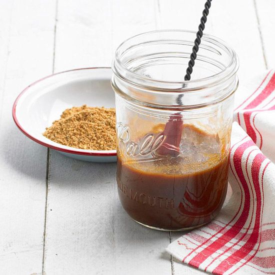 This steak sauce is a mouthwatering mix of cola, bourbon, soy sauce and spices. Get the recipe here: http://www.bhg.com/recipe/sauces/chicago-steakhouse-sauce/?socsrc=bhgpin042712steakhousesauce
