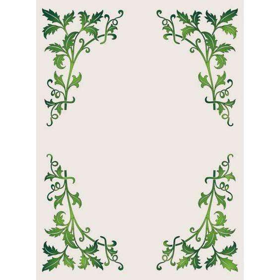 "Green leaves border vector. FREE ""PERSONAL USE"" DWG, SVG ..."