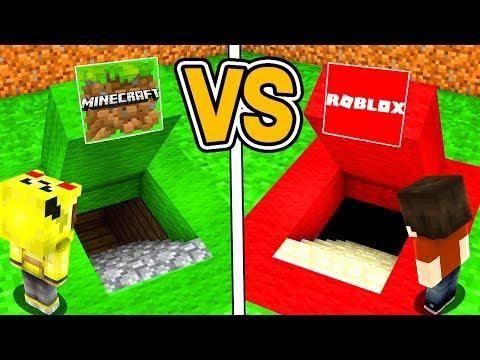 Minecraft Gizli Gecit Vs Roblox Gizli Gecit Minecraft Pops