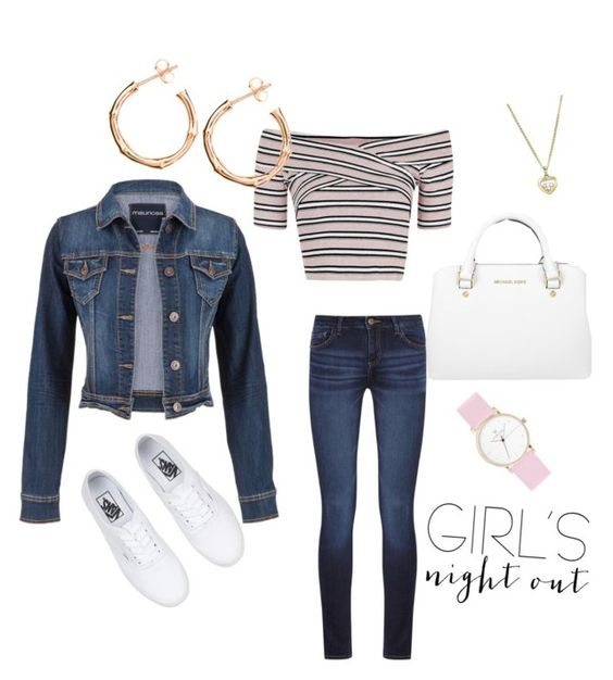 """""""Untitled #61"""" by cmitc16 ❤ liked on Polyvore featuring DL1961 Premium Denim, Topshop, maurices, Michael Kors, Chopard, Dinny Hall and girlsnightout"""
