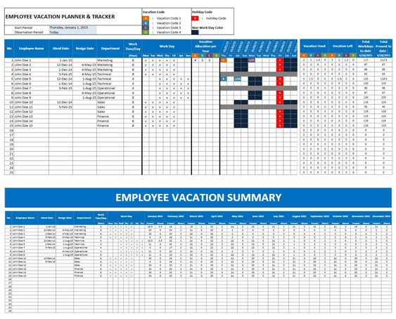 employee attendance calendar excel template - Google Search - employee attendance record template
