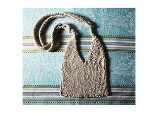 Double knit bag with I-cord