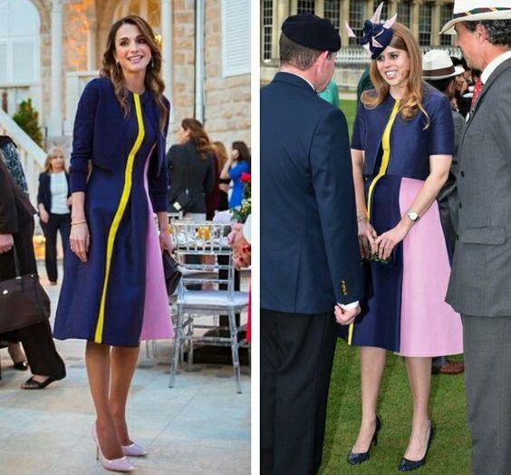 Queen Rania / Princess Beatrice in Roksanda dress