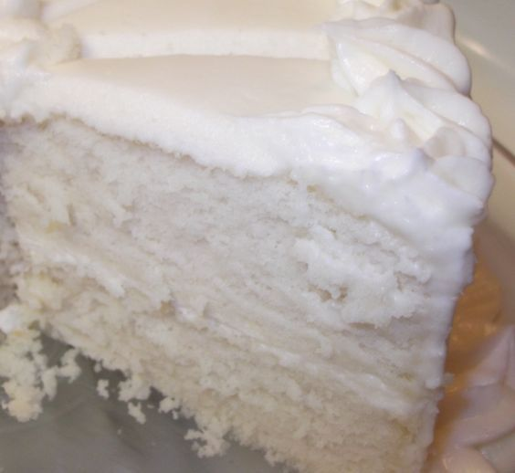 Success! This is a very moist, white cake. I have always stayed away from purely white cakes because I couldn't get them perfectly white. This is pretty close! I'm very happy with how the taste & texture turned out. With a touch of almond extract, this cake is similar to wedding cake made by a professional.…: