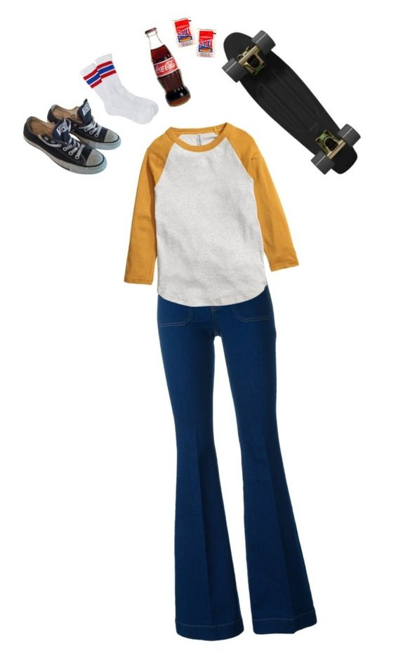 """""""Skating around in the 70's"""" by alisa1987 ❤ liked on Polyvore featuring STELLA McCARTNEY, Converse, Retrò, Urban Outfitters and 70s"""