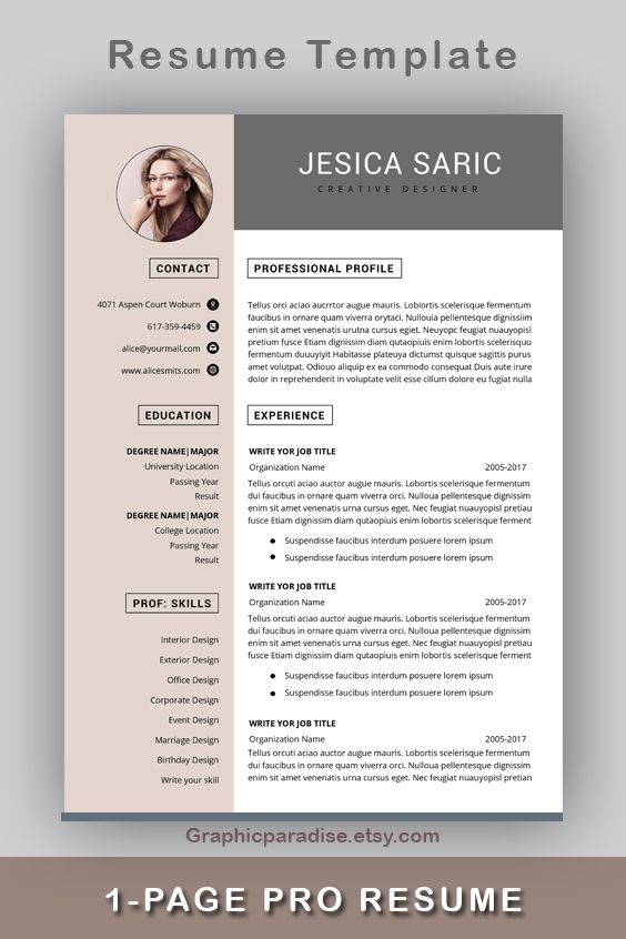 Professional Resume Template Instant Download 3 Page Resume Resume Template Word Cv Cv Template Curriculum Vitae Cover Letter Modern In 2021 Resume Template Resume Template Professional Resume