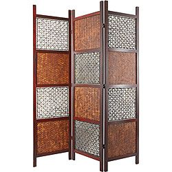 oriental furniture bamboo leaf room divider inr found on polyvore featuring home home decor panel screens asian room dividers asian inspired home decor
