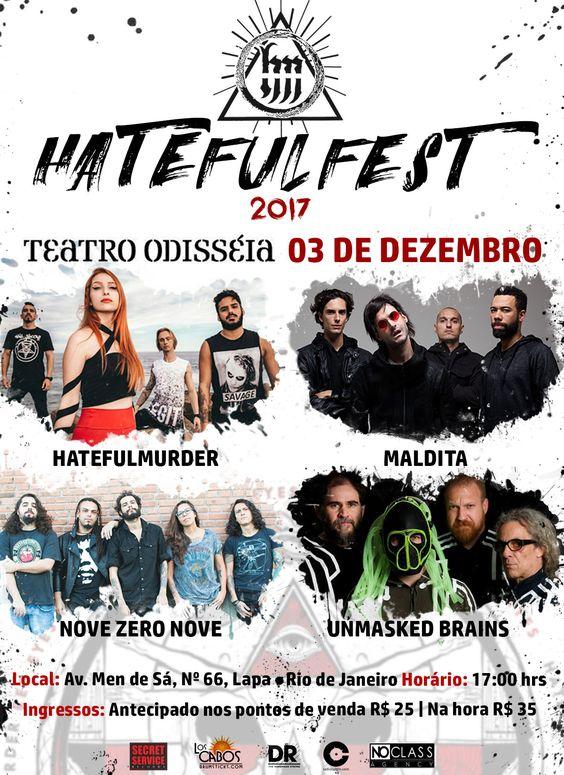 Hatefulmurder Hatefulfest 2017 Flyer Hatefulmurder