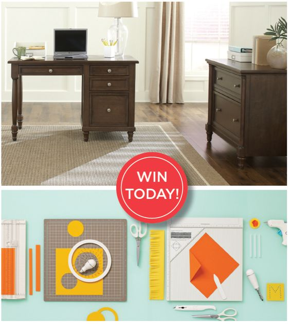Have you entered the Martha Stewart Home Office Sweepstakes yet? There is still a chance to win the Andersen furniture collection along with $500 worth of Martha Stewart Crafts products!