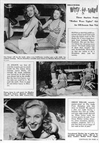 Marilyn In Screen Guide Magazine October 1947 Photos By Bob Landry Marilyn Monroe Young Marilyn Monroe Marilyn
