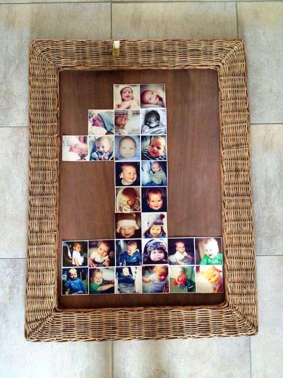 1st Birthday - 1e verjaardag #instagram #photo idea #wall
