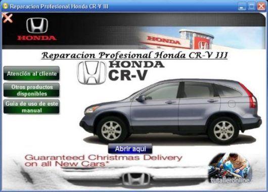 manual de taller y reparacion profesional honda cr v 2004 2006 rh pinterest com 2005 Honda CR-V Navy 2003 Honda CR250 Manual