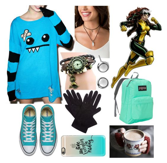 """""""Rogue (Anna Marie) 1#"""" by letycalazans on Polyvore featuring moda, Iron Fist, Claudie Pierlot, Casetify e JanSport"""