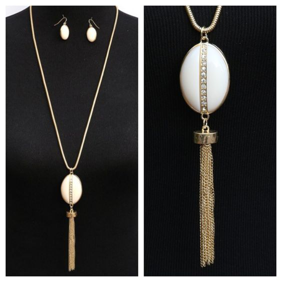 Take a look at our beautiful long pendant necklace with ...