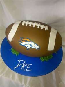 broncos groom cake- if only he liked football lol. this would be perfect for me though..hehe