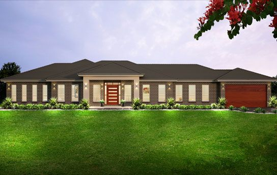 Dark Brick Dark Roof And Render Feature Acreage Homes