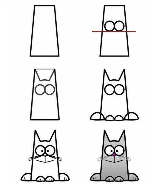 ว ธ การวาดร ปแมวแบบง าย ๆ Art Drawings For Kids Doodle Drawings Easy Drawings