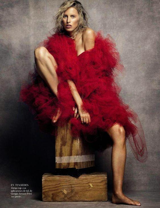 Karolina Kurkova by Nico Bustos for Vogue Spain October 2014 #redhot #dinamackneyfave