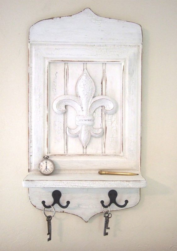 shabby chic fleur de lis percheros llaveros pinterest shabby chic messages and chic. Black Bedroom Furniture Sets. Home Design Ideas