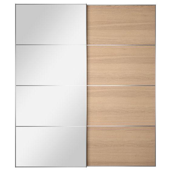 AULI/ILSENG Pair of sliding doors - 200x236 cm, - IKEA