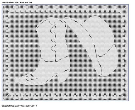 Crochet Pattern Excel : Filet Crochet CHART-Western Apparel Filet crochet ...