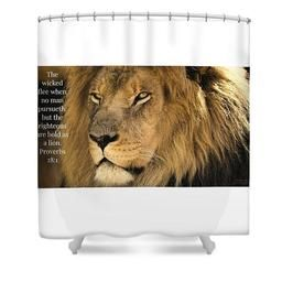 Bold As A Lion Shower Curtain Love The Lord Inc Shower Wall