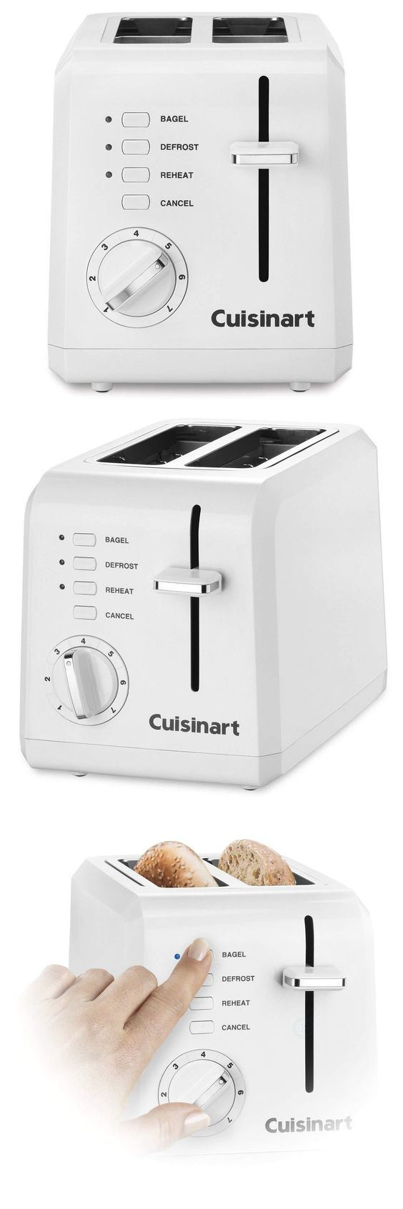 Toasters 77285 100 Genuine Cuisinart Cpt 122 2 Slice Compact Plastic Toaster White New Buy It Now Only 22 39 On Ebay To Toaster Cuisinart Ebay