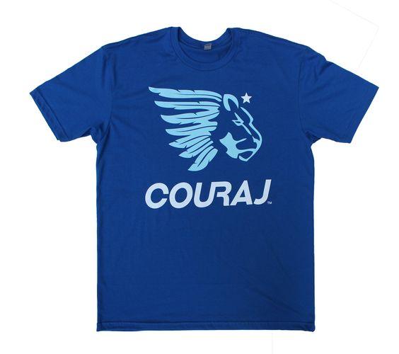 Blue COURAJ Tee