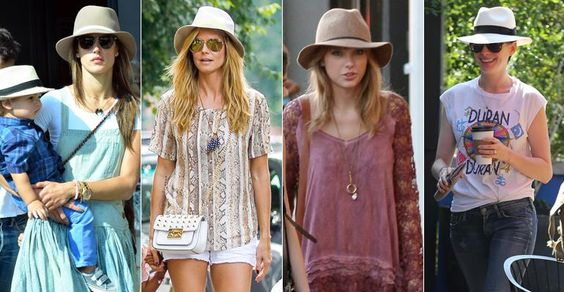 Chapéus também podem compor 'look urbano'. Copie o visual das famosas