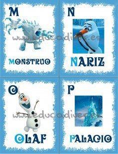 Frozen - abecedario imprimible pagina 4