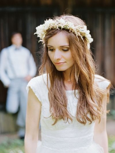 Rustic flower crown: http://www.stylemepretty.com/2013/08/23/german-wedding-from-birgit-hart/ | Photography: Birgit Hart - http://www.birgithart.com/