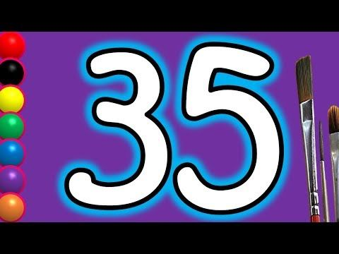 Learn Colors With Drawing Colours For Kids Children How To Draw Numbers 35 Painting Videos Youtube Coloring For Kids Learning Colors Painting Videos